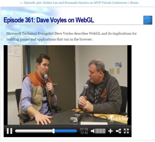 David Giard webGL podcast