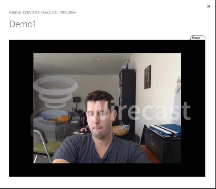 Demo preview wirecast