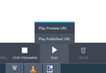 Play preview URL wirecast