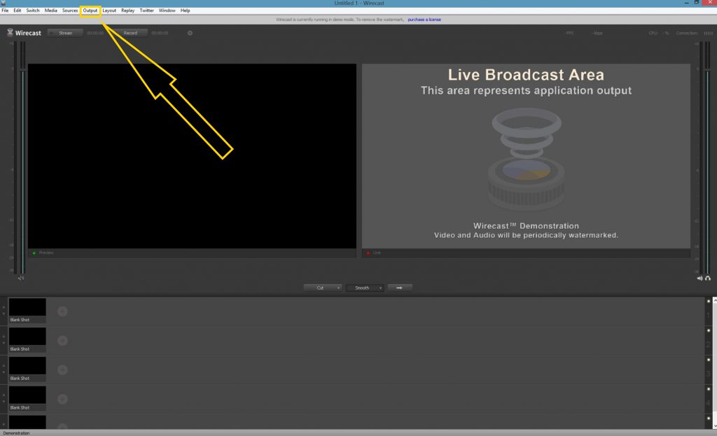 Wirecast output