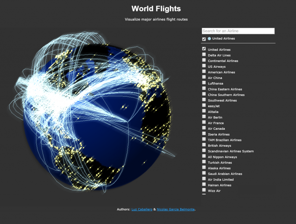 World-flights-WebGL