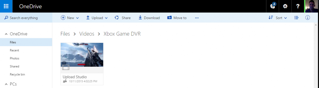 Game-DVR-OneDrive'